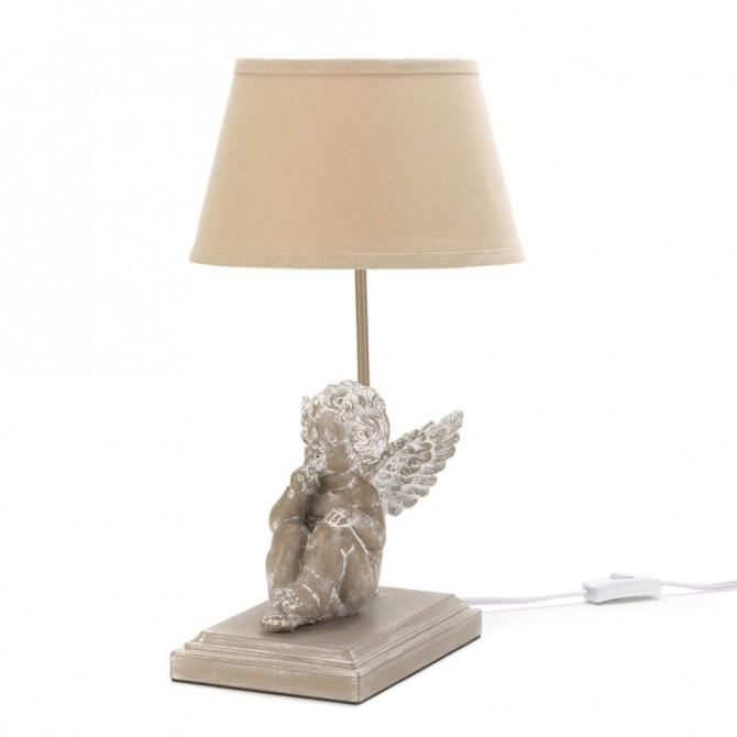 Musing Cherub Table Lamp