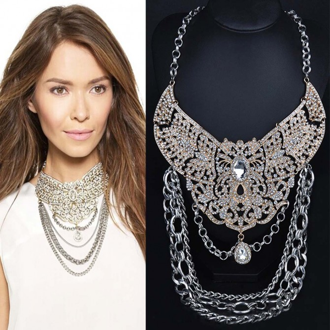 Stylish Layered Chain Necklace