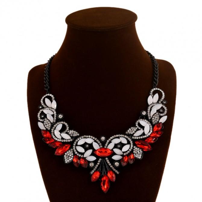 Gothic Bib Red Necklace