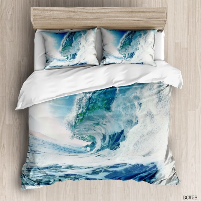 Ocean Wave Duvet Cover Set