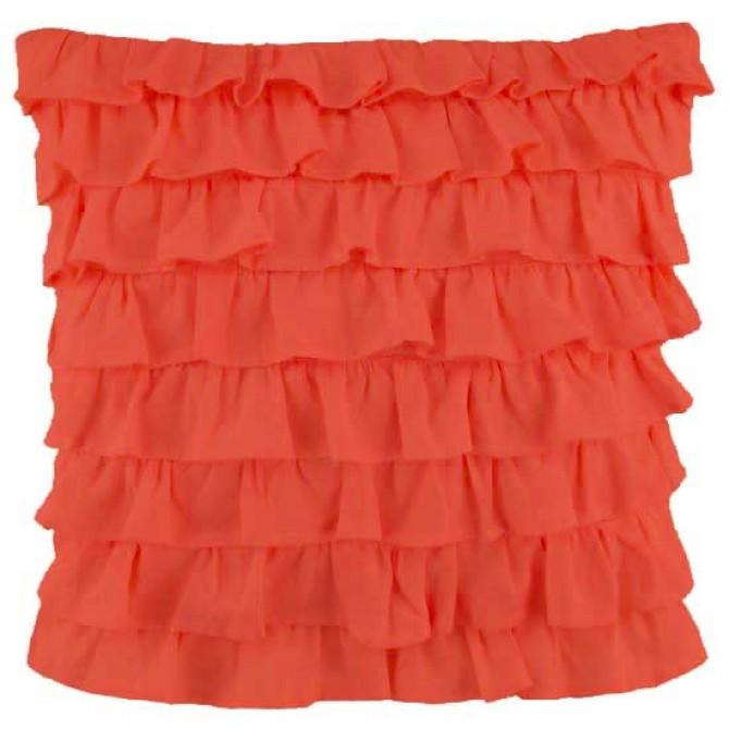 Clara Ruffled Sham, Orange