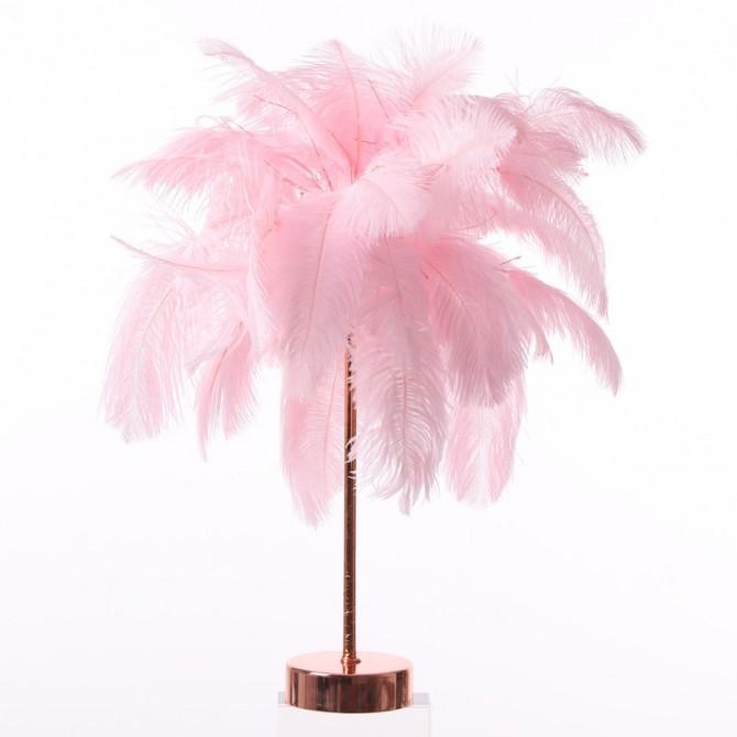 Pink Ostrich Feather Desk Lamp DIY Kit