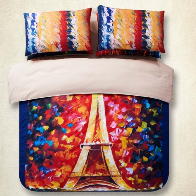 Paris Eiffel Tower Duvet Cover Set