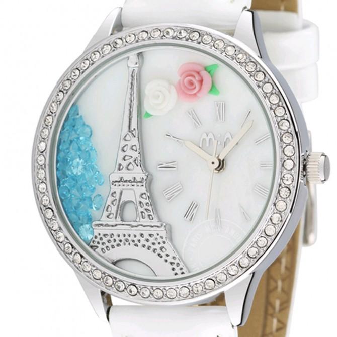 Paris Eiffel Tower 3D Watch, White