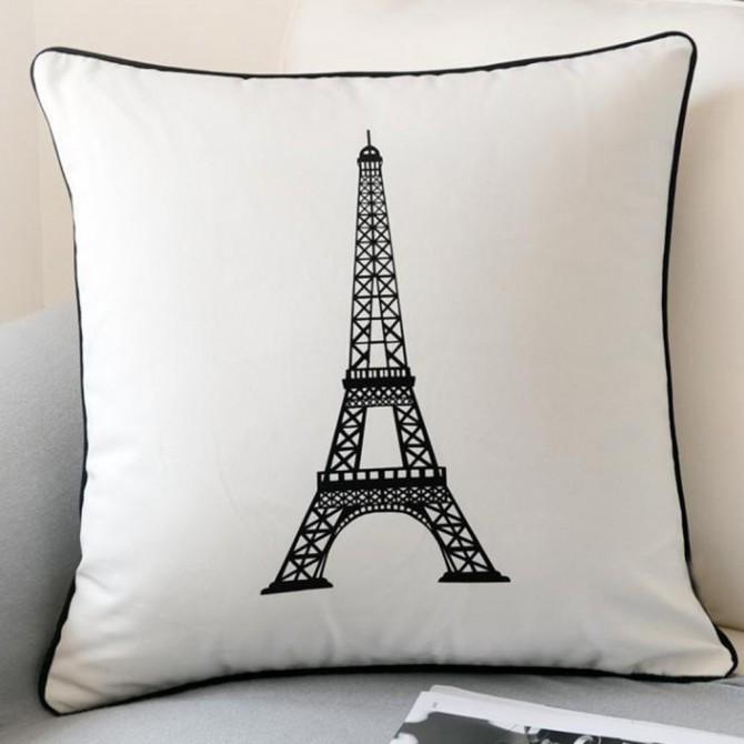 Paris Eiffel Tower Cushion Cover