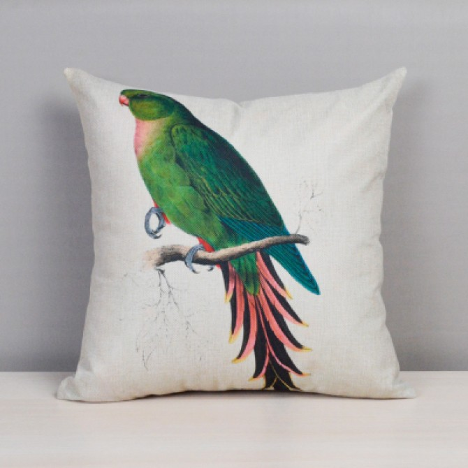 Colorful Bird Cushion Cover C