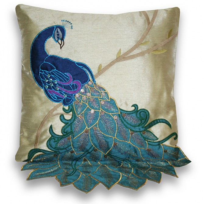 Fancy Peacock Cushion Cover B