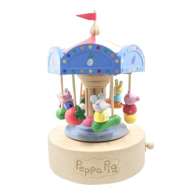 Super Cute Peppa Pig Carousel Music Box