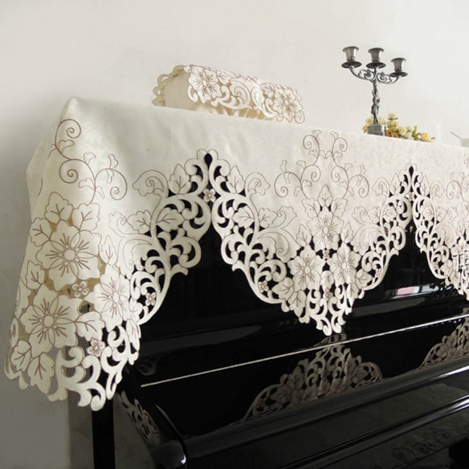Cecelia Embroidery Piano Cover