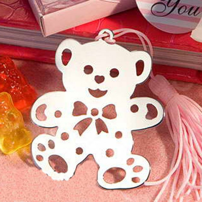 Pink Baby Teddy Bear Bookmark
