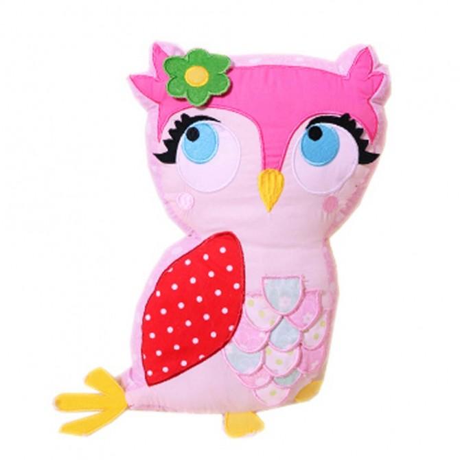 Pink Owl Pillow