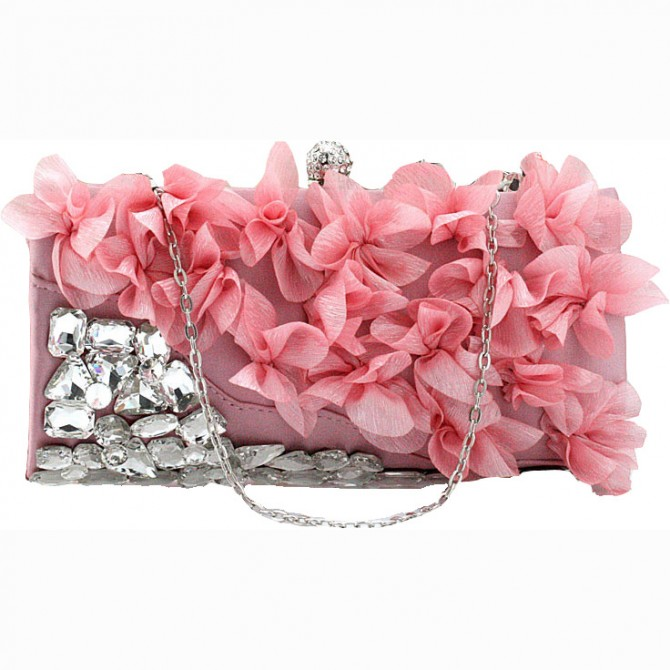 Pedal Flower Purse,  Pink