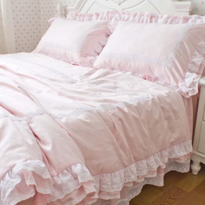 Australian Size 210cm x 210cm duvet cover set-Sweet Ruffle