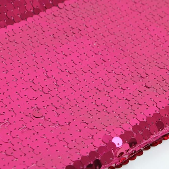 High Density Fuschia Sequin Fabric