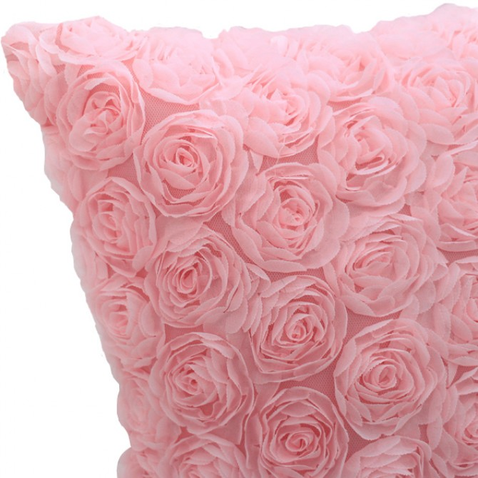 Pink Roses Cushion Cover