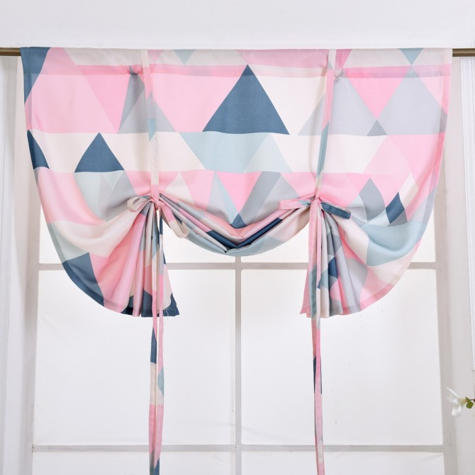 Pink Tie Up Curtain