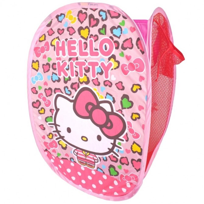 Pink Heart Hello Kitty Foldable Clothes Laundry Basket/Storage/Bag