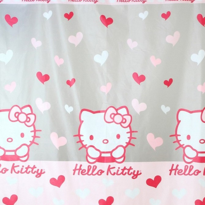 Hello Kitty Love Hearts Shower Curtain