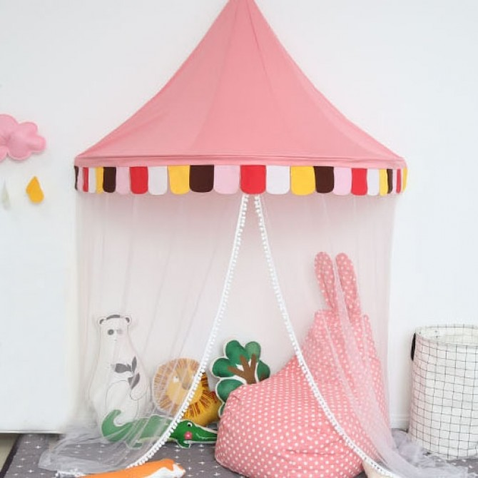 Kids Play Tent Canopy-Pink