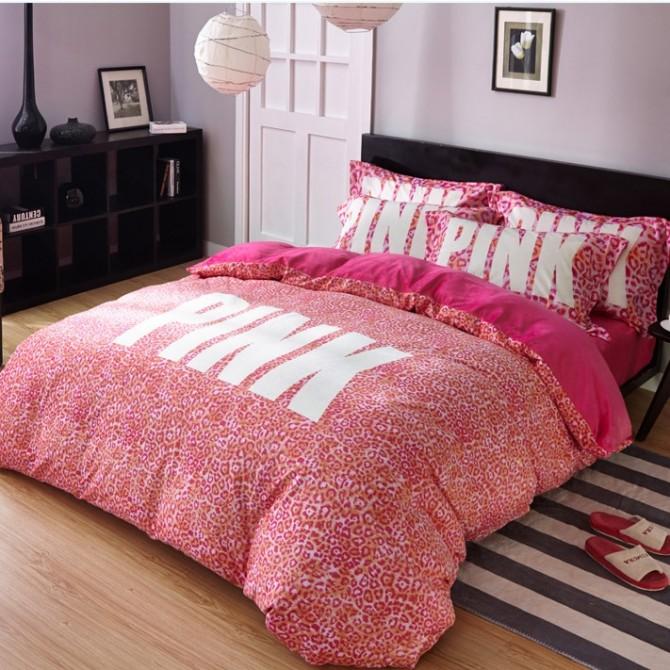 Leopard Pink Duvet Cover Set