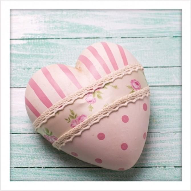 Pink Love Heart Print