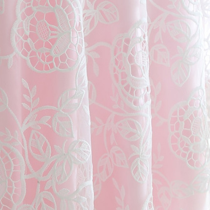 White Lace Overlay Round Tablecloth