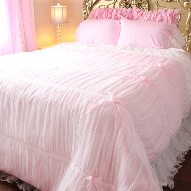 Ruched Bedding Set