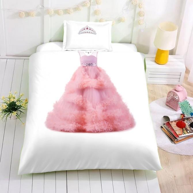Pink Princess Dress Duvet Cover Set