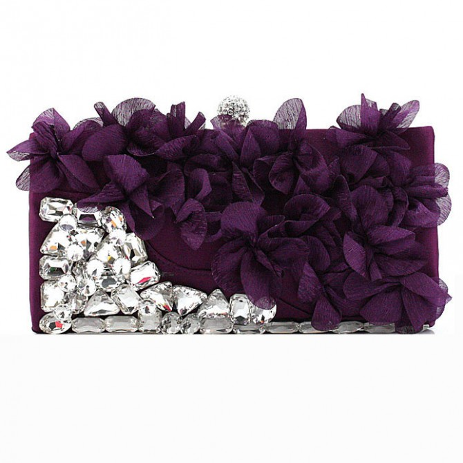 Pedal Flower Purse,  Purple