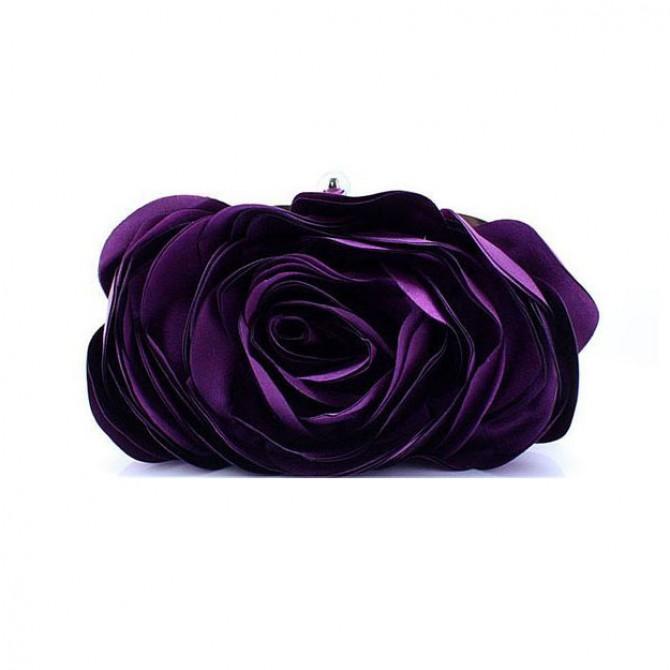 3D Rose Purse,  Purple