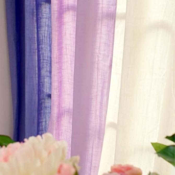 Purple Gradient Linen Curtain Set