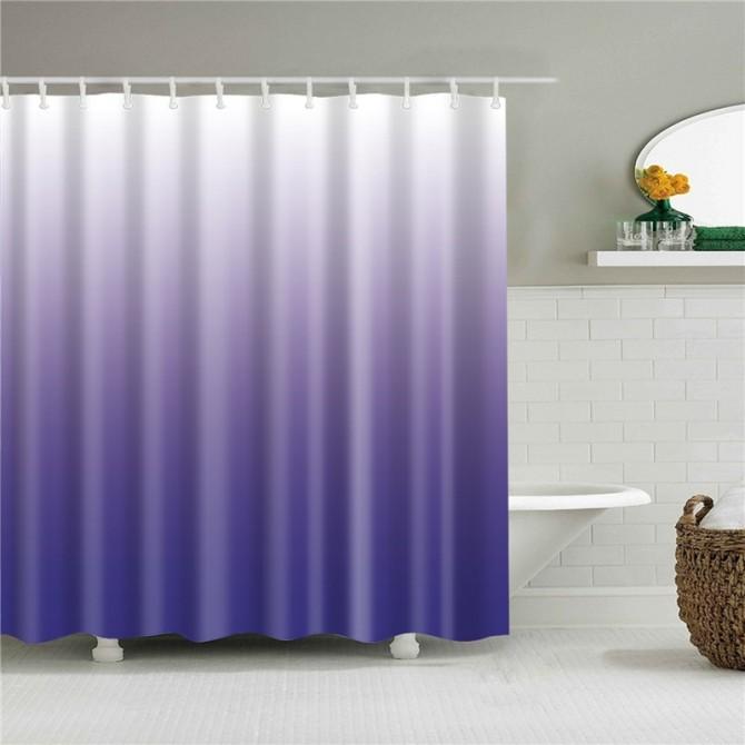 Purple Gradient Shower Curtain