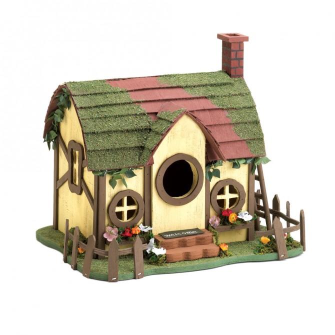 Quaint Cottage Bird House