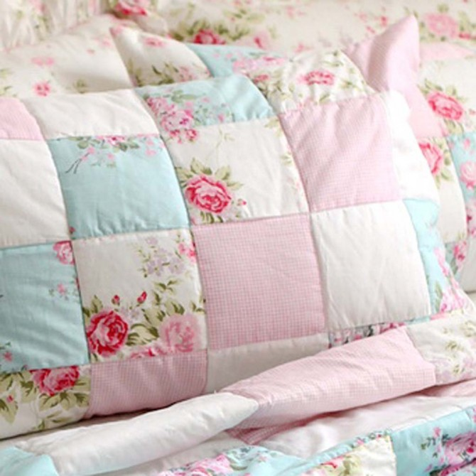 Rose Patchwork Pillow Sham