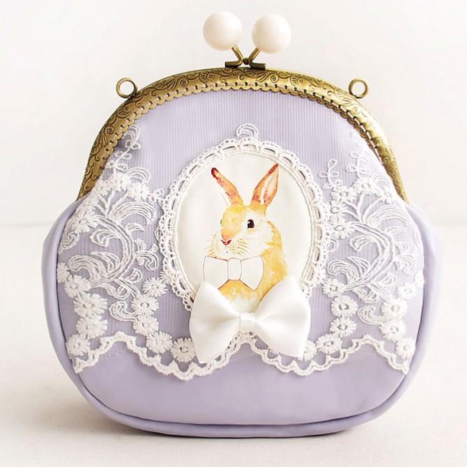 Purple Rabbit Lace Bag Purse