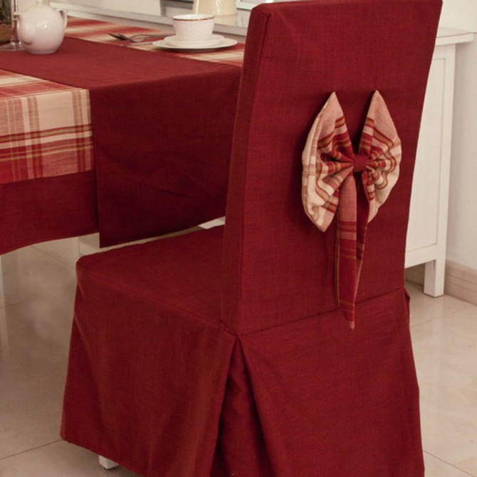 Dinning Chair Slipcover, Dark Red