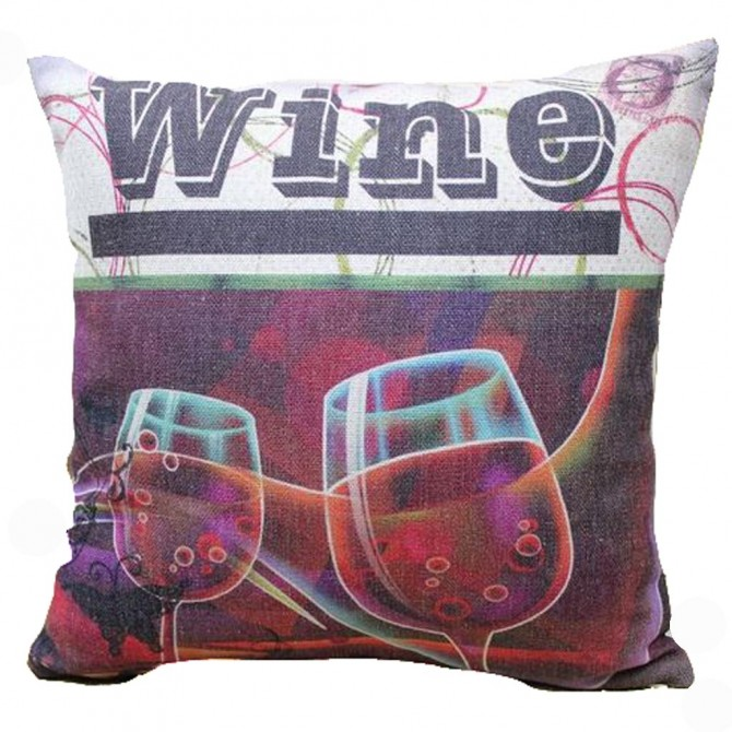 Red Wine Cushion Cover