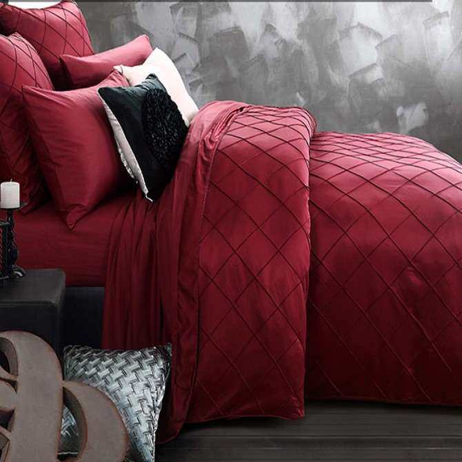 Royal Red Duvet Cover Set