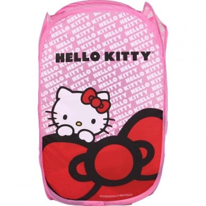Red Bow Hello Kitty Foldable Clothes Laundry Basket/Storage/Bag