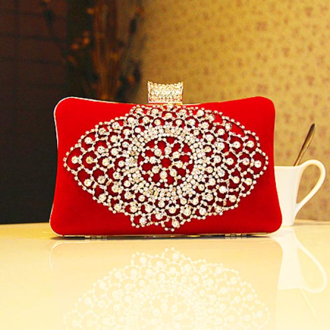 Royal Wedding Red Crystal Purse