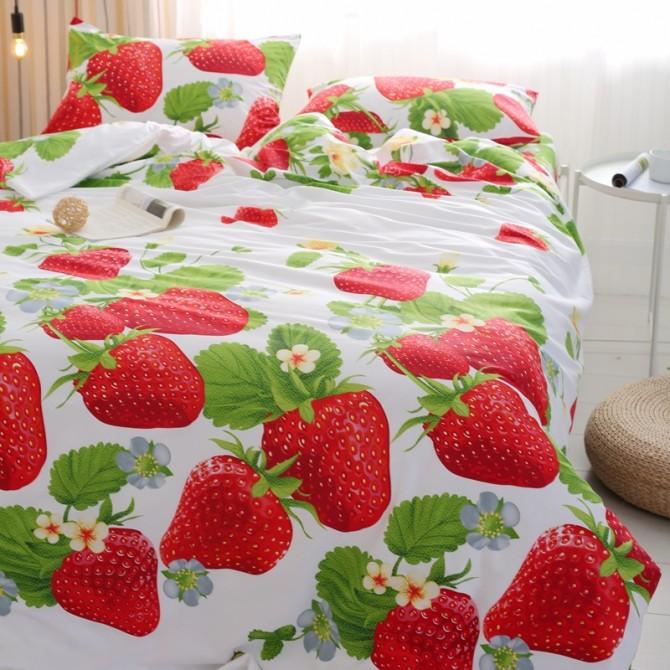 Red Strawberry Duvet Cover Set