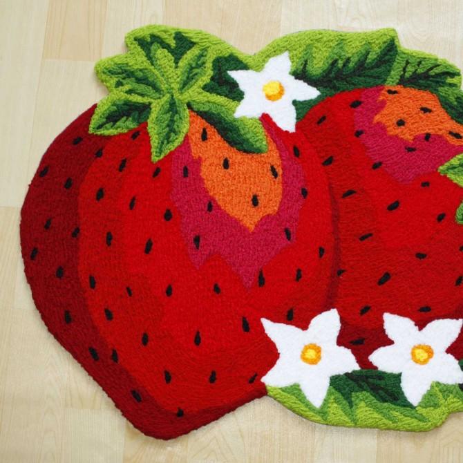 Red Strawberry Rug