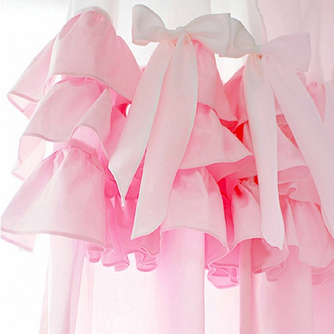 Cinderella Pink Ruffle Curtain