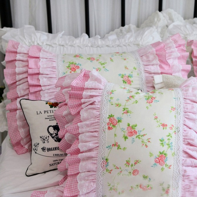 Princess Floral Ruffle Duvet Cover Set