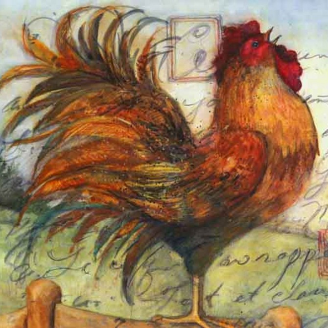 Rooster Canvas Print B