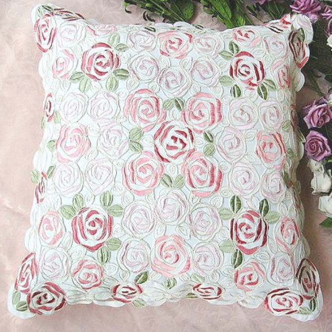 Rose Bush Accent Pillow Cover