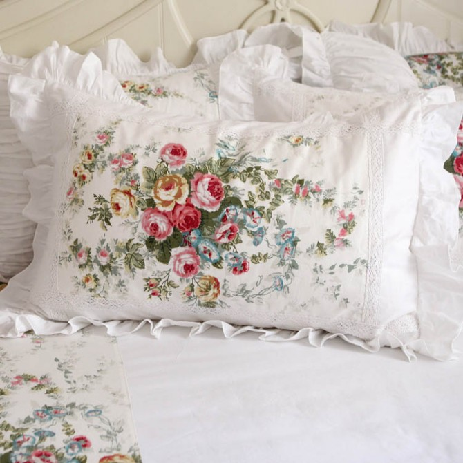 Royal Rose Garden Ruffle Pillow Sham