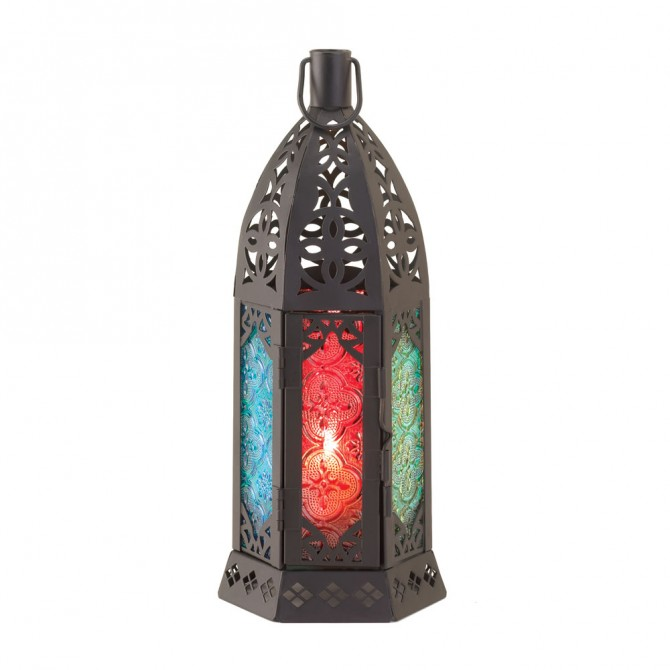 Rosette Prism Candle Lantern