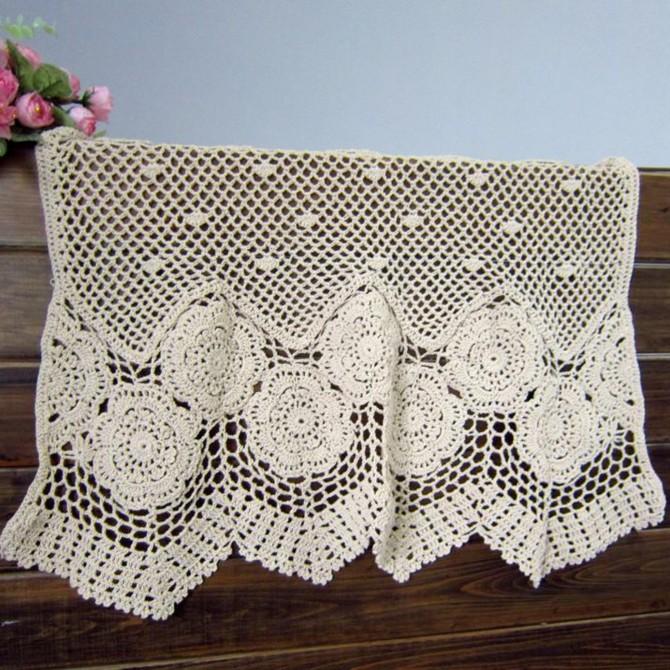 Sunflower Cotton Crochet Curtain