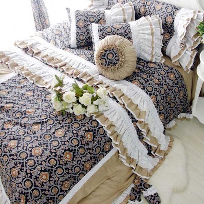 Luxury Boho Brown Duvet Cover Set